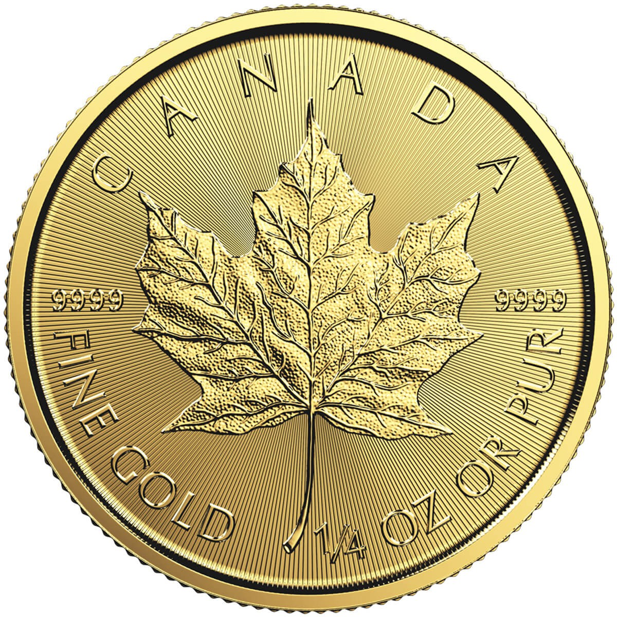 1/4 Ounce Gold Canadian Maple (Random Year)