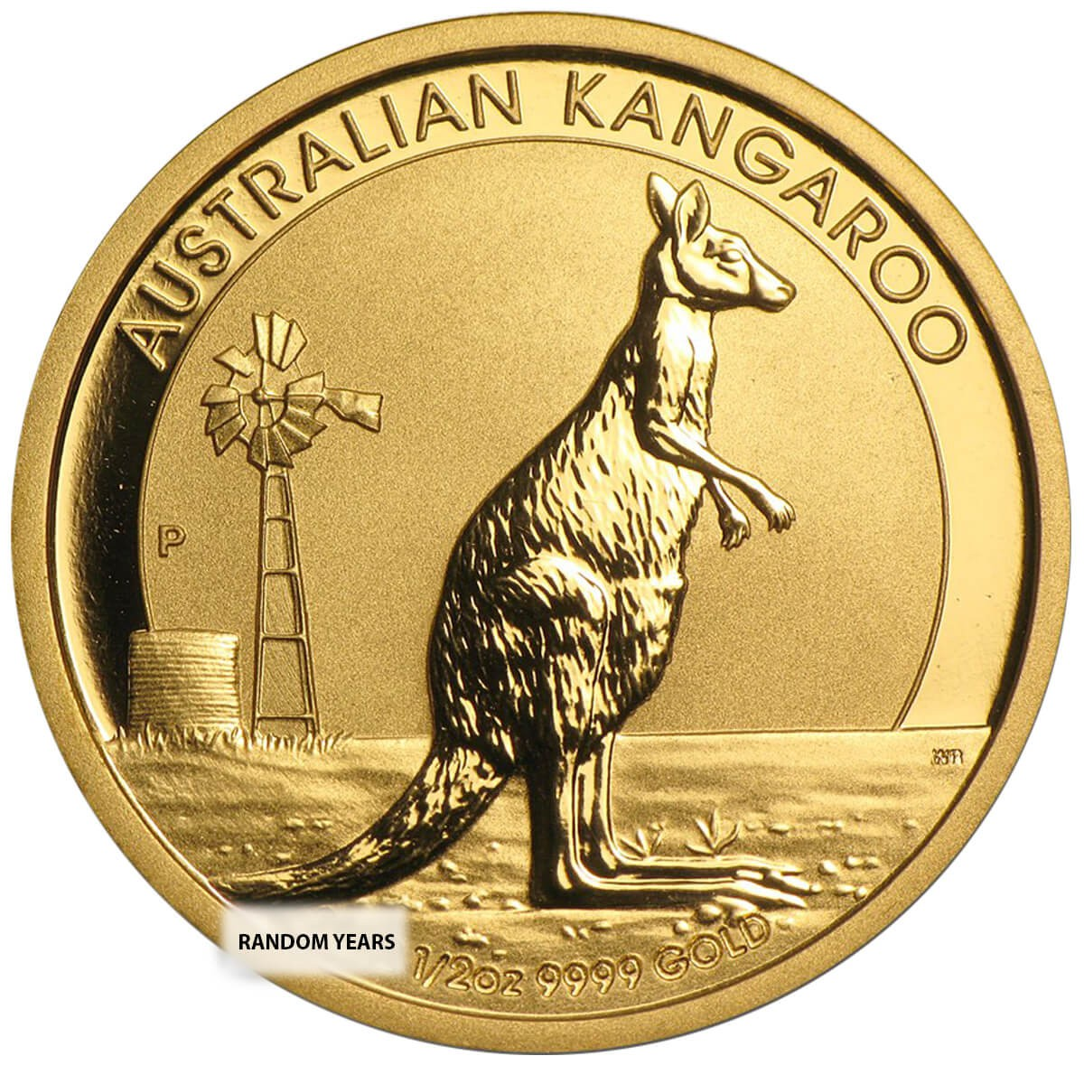 1/2 Ounce Gold Australian Kangaroo Back Dated