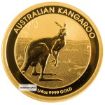 1/4 Ounce Gold Australian Kangaroo Back Dated
