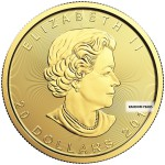 1/2 Ounce Gold Canadian Maple Leaf Back Dated