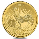 1 Ounce Gold Australian Year Of The Rooster (RAM) 2017