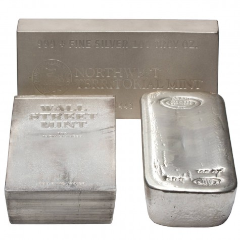 100 Ounce Assorted Silver Bar