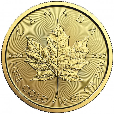 1/2 Ounce Gold Canadian Maple Leaf (Random Year)