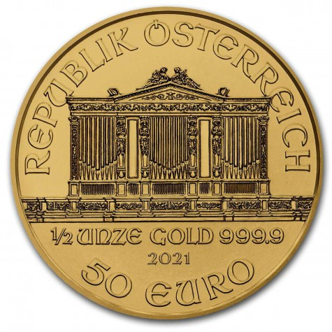 1/2 Ounce Gold Austrian Philharmonic 2021