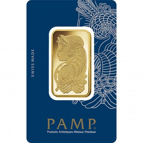 1 Ounce Gold Bar - PAMP Suisse Veriscan