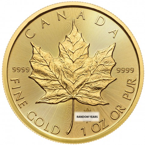 1 Ounce Gold Canadian Maple Leaf (Random Year)