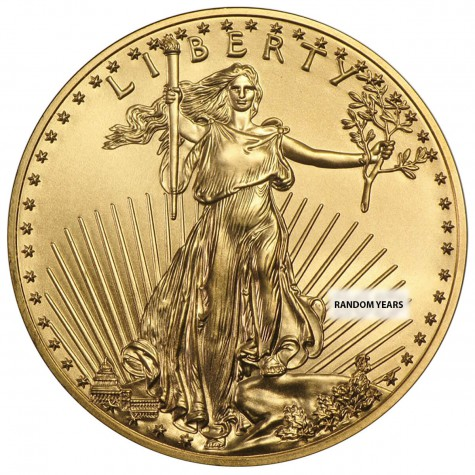 1/2 Ounce Gold American Eagle Back Dated