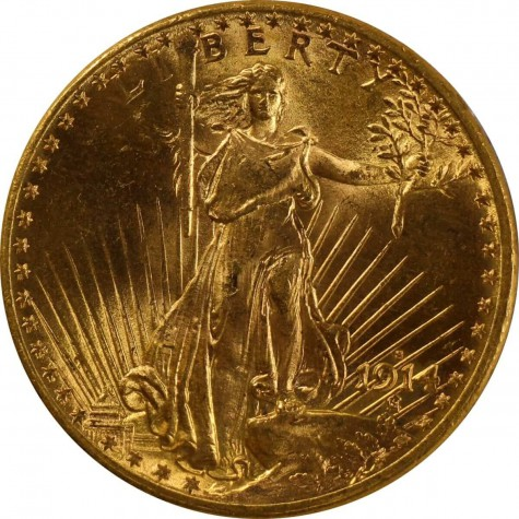 Pre-33 $20 Saint Gaudens Gold Double Eagle Coin (AU)