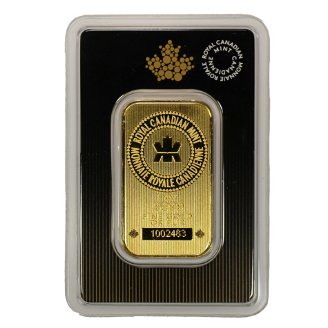 1 oz RCM Gold Bar - Royal Canadian Mint (In Assay)