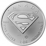 1 Ounce Silver Canadian Superman 2016