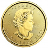 1/4 Ounce Gold Canadian Maple 2018