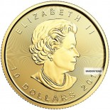 1/4 Ounce Gold Canadian Maple Back Dated