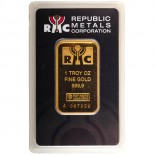 1 Ounce Gold Bar - Republic Metals Corp.